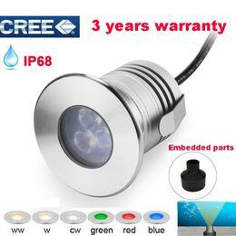 Ingrosso Bassa tensione di illuminazione LED di paesaggio 12V 3W IP68 impermeabile LED subacquea Stagno luce della lampada Piscina lampada LED