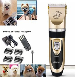 Corte Gato Baratos-Kimter Profesional Pet Hair Clipper Trimmer Tijeras Dog Cat Shaver Grooming Cortador de Pelo Eléctrico Cutting Machine Kit de recorte SF165