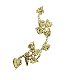 $enCountryForm.capitalKeyWord NZ - new leaf ear cuff European and American hot metal punk ear clip earrings exaggerated Gold Color Plated earrings for women E015