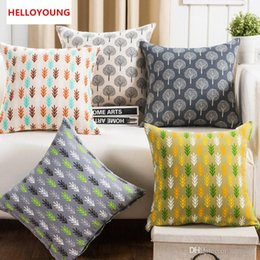 BZ120 Luxury Cushion Cover Pillow Case Home Textiles Supplies Forest Pattern  Decorative Throw Pillows Chair Seat Chair Seat Cover Pattern For Sale