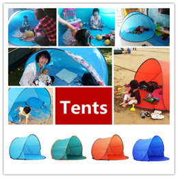 tents for camping NZ - Hiking Tents Outdoor Gear Camping Shelters for 2-3 People UV Protection 30+ Tent for Beach Travel Lawn Family Party DHL Fast Shipping