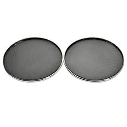 Chinese  Wholesale- 2PCS 6.5 Inch Plating Car Speaker Cover Tweeter Grille Waffle Mesk Grills manufacturers