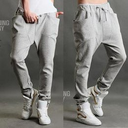 Danza Hiphop Suda Baratos-2016 nuevo Casual Harem Atlético Hip Hop Dance Sporty Hiphop Mens Sport Sweat pantalones Slacks Loose Long Hombre Pantalones Sweatpants