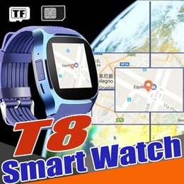 Smart Watches For Android Price NZ - T8 Smart Watch Clock 2017 Hot Sell Low Price Bluetooth Smartwatch Suppot SIM&TF Card With Camera Call Message for Android Upgrade V8