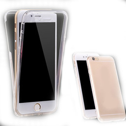 $enCountryForm.capitalKeyWord NZ - For Iphone 6 plus Mobile Phone Cover Full Body Touch Front Back Clear TPU Case Cover for iphone 6 6S
