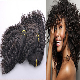 permed curly hair NZ - Mongolian Kinky Curly Virgin Hair Good Quality 8A Afro Kinky Curly Hair 3Pcs lot Mongolian hair weave bundles