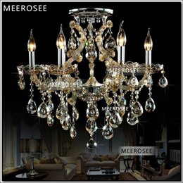 Chinese  Cognac 6 Lights Living Room lampadario Chandelier hanging lamp modern chrystal chandelier MD8477C D620mm H550mm 100% Guarantee manufacturers