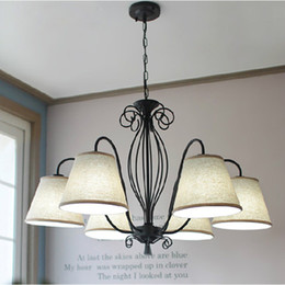 Vintage 12V lights online shopping - Norse droplight American countryside iron chandelier vintage country living room lamp bedroom dining room study lamps and lanter