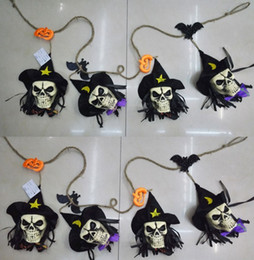 Halloween Bat Decor Canada - Halloween Party Skull Garland ghost bat witch pumpkin string banner flag club bar decoration store atmosphere SKULL HEAD pendant flags decor