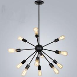 Edison cEiling lighting online shopping - Satellite chandeliers Vintage wrought iron pendant light ceiling lamp Spherical Spider lamp E27 Edison pendant lighting Bar Coffe Lighting