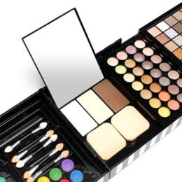 gel eye shadow UK - Free Shipping 177 Color Pro Makeup Set Eye Shadow Blush Lipgloss Brow Shader Concealer Palette Eyeshadow Gel Brushes Beauty Kit