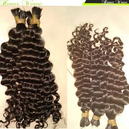 Raw Peruvian Bulk Hair Loose Curly Virgin Unprocessed Human Hair Braids 4pcs lot Luffy Nature Girl on Sale