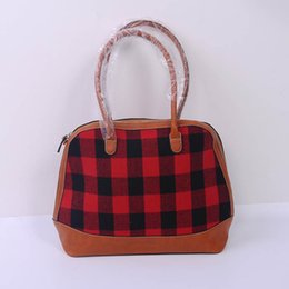 $enCountryForm.capitalKeyWord Canada - Buffalo Plaid Handbag Faux Leather Check Shell Purse Bridesmaid Tote Bag Lady Shoulder Bag DOM106399