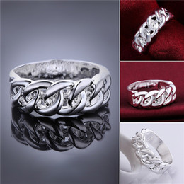$enCountryForm.capitalKeyWord Canada - Brand new 10 pieces 925 silver Ring weave pattern Free shipping GSSR536 Factory direct sale mix size fashion sterling silver finger ring