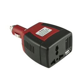 12v car ac UK - Cigarette lighter Power Supply 150W 12V DC to 220V 110V AC Car Power Inverter Adapter with USB Charger Port 2.1A 0.5A