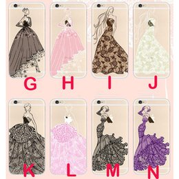 Beautiful girl case online shopping - Beautiful Gril Angel Wedding dress Girl Holding flowers Girl Case For iPhone6 S Plus Soft TPU Back Cover Shell Case