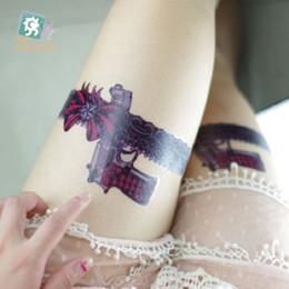 $enCountryForm.capitalKeyWord NZ - 21*15cm Temporary fake tattoos Waterproof tattoo stickers body art Painting for party decoration etc large lace gun bowknot