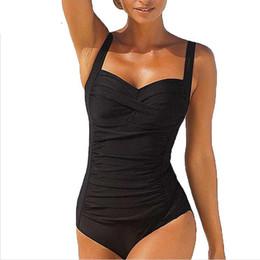 $enCountryForm.capitalKeyWord Australia - One Piece Swimsuit Plus Size Swimwear Women 2017 Summer Beachwear Push Up Bathing Suits Retro Swim Wear Monokini 4XL