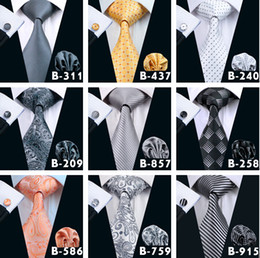 Silver neck tie online shopping - Top Styles Men Ties Business Suit Necktie Neck Tie Set Silk Paisley Solid Stripes Yam Dyed Golden Classic Flower Ties