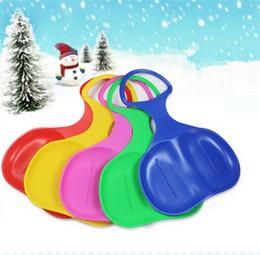 2016 Dicke Plastik Erwachsene, Kinder Ski, Snowboards, glatte Wiese Snowboard, 5 Farben / Freier Transport