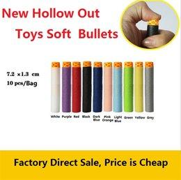 Novos brinquedos macio bala arma geral macio cabeça escavar balas de espuma de Eva oco brinquedos macios balas Brinquedos Esportivos 4141-4