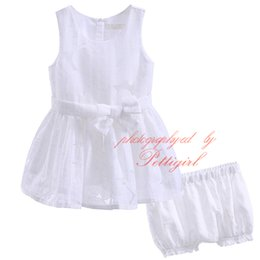 toddler fashion sets 2019 - New Fashion Pettigirl Solid White Tulle Clothing Set For Infant And Toddler Girls Floral Print Shorts Bowknot Tops Baby