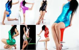 $enCountryForm.capitalKeyWord NZ - New Black Metallic Lycra Zentai spandex Sexy Gymnastics catsuit