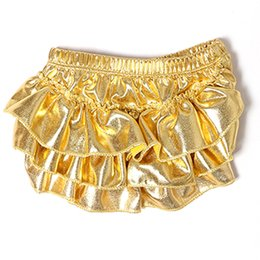 $enCountryForm.capitalKeyWord UK - Metallic Gold Ruffle Bloomers ,Baby Girl Bloomer,Ruffle Baby Shorts New Baby Diaper Cover ,Newborn Outfit , Girls Tutu Bloomers
