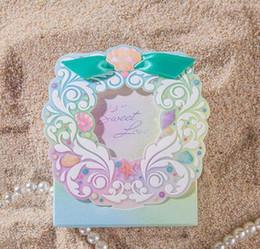 Discount sugar paper - Romantic European style Blue ocean and outdoor theme wedding Candy Box gift box wedding bonbonniere wedding favour boxes