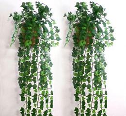 $enCountryForm.capitalKeyWord Canada - Hot Selling Artificial Ivy Leaf Garland Plants Vine Fake Foliage Flowers for Home wall Decor wedding party decorations free shipping