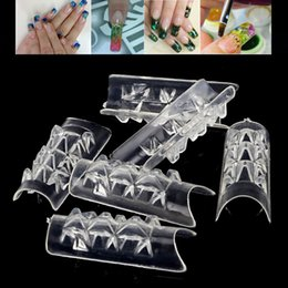 Barato Unha De Mosaico Transparente-Atacado - 100pcs / lot 10 Tamanho Clear Glass Tips Mosaic False Nails Tips Nail Art tools