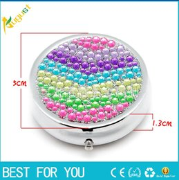 Wholesale Fashion Style Pill Classic Lady Round Tin Box Metal Storage Box Retro Jewelry Case Candy Box pill case
