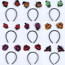 $enCountryForm.capitalKeyWord Canada - Halloween headband Wholesale masquerade party props decorative pumpkin vampire bat hair bands headband