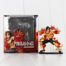 one piece portgas d ace figure 2019 - Anime One Piece Battle Portgas D Ace PVC Action Figure Collectable Model Toy for kids gift 12cm free shipping retail dis
