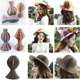 Toy Factories Canada - party hat simple colorful Tourist Area Magic paper vase cap honeycomb paper hat craft hats Factory sales wedding holiday Creative Toy