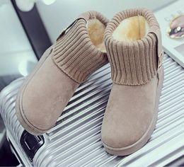f6c7e7a9c68 Black Snow Shoes Canada - 2018 New snow boots women warm cotton down shoes  waterproof boots