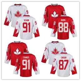87 Sidney Crosby 88 Brent Burns 91 Steven Stamkos 91 Tyler Seguin Team  Canada 2016 World Cup Of Hockey Premier Home Jersey ... 9d8efd18f