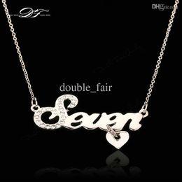 $enCountryForm.capitalKeyWord Canada - Vintage CZ Diamond Seven Love Heart Necklaces & Pendants Fashion Brand Jewelry Jewellery For Women Chains Accessiories DFN077