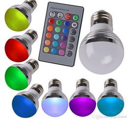 Color Energy Saving Bulb NZ - RGB led Bulb E27 3W Energy Saving Light RGB Bulbs AC85-265V Magic RGB Color Changing LED Light Bulb IR Remote Controller