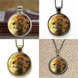Lion pendant chains online shopping - 10pcs gold lion LION Background Photography glass Necklace keyring bookmark cufflink earring bracelet
