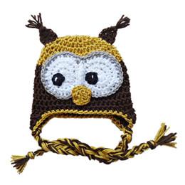 $enCountryForm.capitalKeyWord UK - Adorable Owl Hat,Handmade Knit Crochet Baby Boy Girl Owl Hat,Infant Toddler Animal Hat,Halloween Outfits,Newborn Photo Prop Shower Gifts