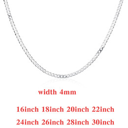 $enCountryForm.capitalKeyWord NZ - Figaro Chains 925 Silver Necklace 16inch ~30inch More Size Width 4mm , Fashion Jewelry Figaro Chains Necklaces 20Pcs NS015