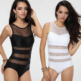 spandex lace one piece swimwear 2019 - Europe and the United States women bikini new Swimwear conjoined sexy mesh &Lace bathing suit 2840 cheap spandex lace on