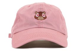 Exclusives Hats Canada - RARE Kanye West Ye Bear Dad Hat EXCLUSIVE Release Limited Unisex red i feel like pablo cap yeezus 350 750 wolves capS