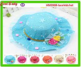 $enCountryForm.capitalKeyWord Canada - New Korean crochet Summer Models Gauze Flower Princess Cap Visor Beach Hat Fashion Children Breathable Girls Sun Hat Head Around 54cm HMZ008
