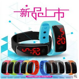 Screen Candy Canada - 2016 Sport LED Watch Candy Jelly men women Silicone Rubber Touch Screen Digital Waterproof Watches Bracelet Mirror Wristwatch DHL