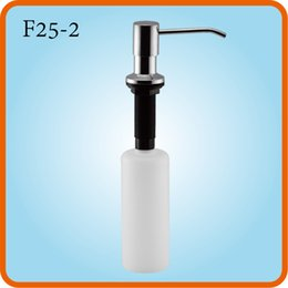 dispenser kitchen Australia - 2017 High Quality F25-1 350ml 500ml Top-filling 304 stainless steel home bathroom kitchen sink counter dish wash dispenser