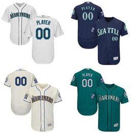 a32ccf388 ... Ken Griffey Ichiro Suzuki Edgar Martinez Custom Seattle Mariners Sports  Throwback mlb Cheap Baseball Jerseys Fashion ...