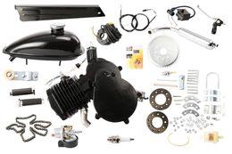 Venta al por mayor de A estrenar 80cc 2 tiempos Ciclo bicicleta Bicicleta motorizado Gas Motor Kit NEGRO Motor Chrome silenciador