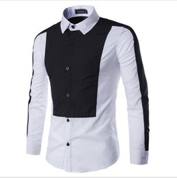 Comfortable And Soft 2016 New Mens Shirts Luxury French Cufflinks Wedding Dress Peaked Collar Long Sleeve Men